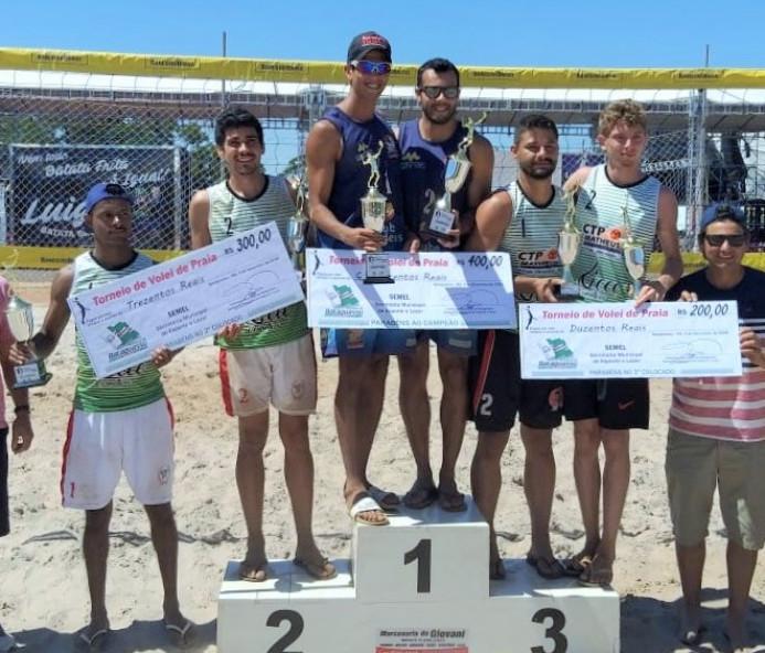 Venceslauenses conquistam prata e bronze em Torneio de Vôlei de Areia