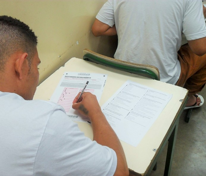 Aumenta em mais de 26% número de presos da região inscritos no Enem