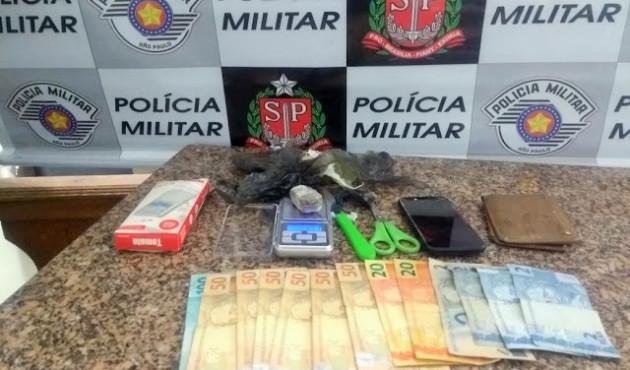 Homem é preso com maconha e embalagens para droga em Venceslau
