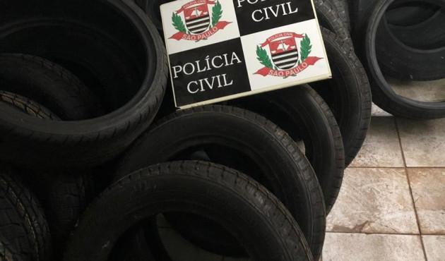 Polícia Civil apreende pneus contrabandeados no Jardim Eldorado