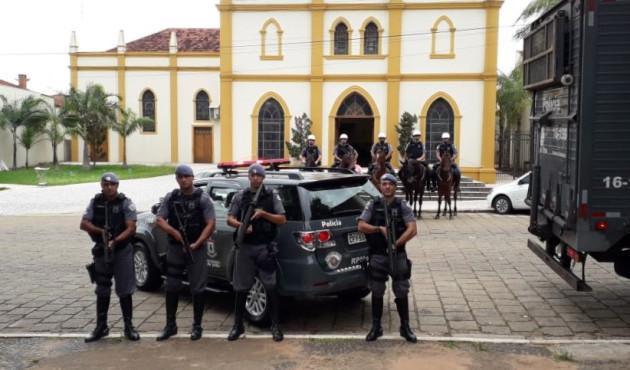 Cavalaria do Regimento de Polícia Montada 9 de Julho reforça policiamento em Venceslau