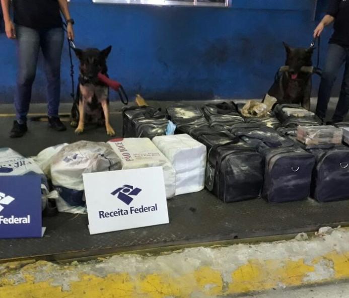 Apreensões de cocaína atingem marca histórica e já superam 47 toneladas em 2019