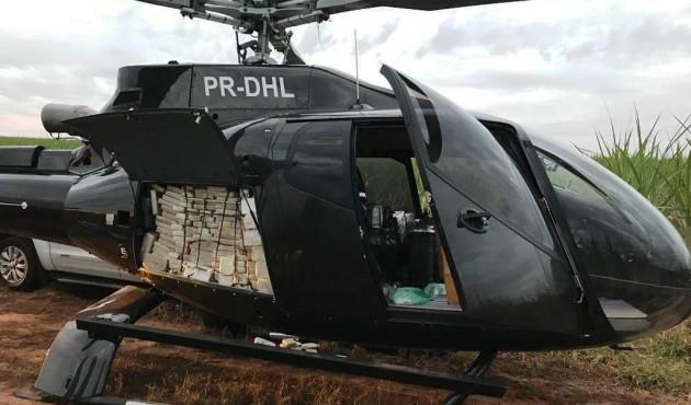 Helicóptero é apreendido com 500 kg de cocaína em Prudente
