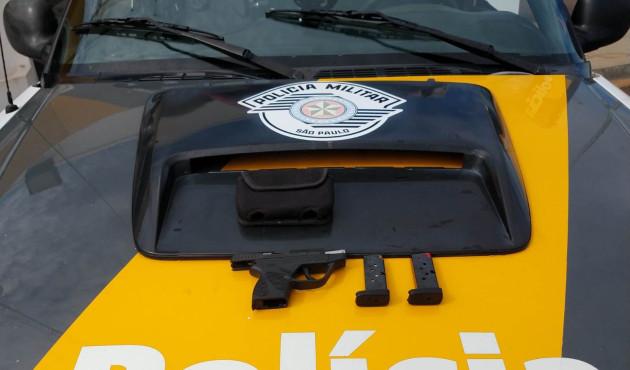 Polícia apreende pistola e carregadores em Venceslau