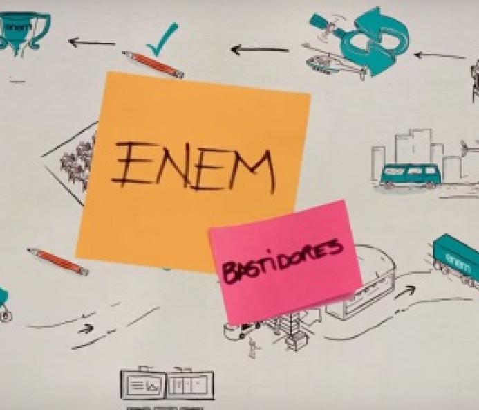 Mini-documentários mostram bastidores do Enem