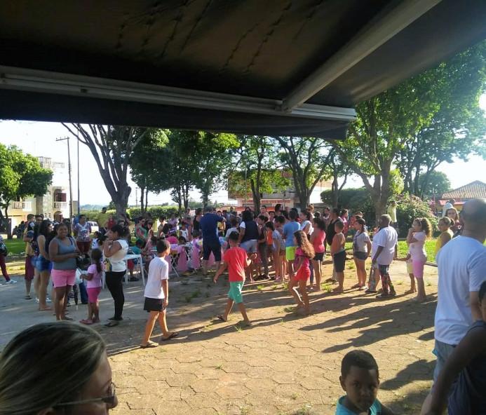 Policiais civis participam de evento no Dia das Crianças em Venceslau