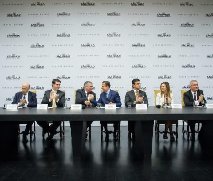 Doria anuncia acordo para manter GM em São Paulo