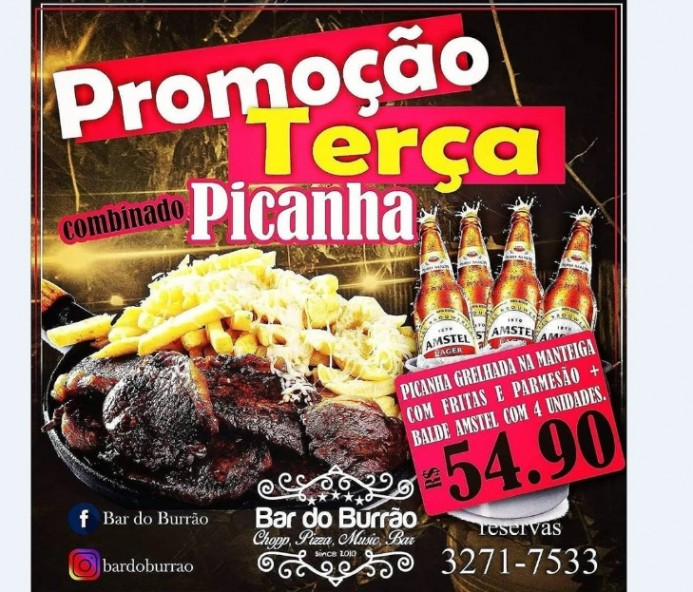 Promoção de Combinado de Picanha nesta terça no Burrão