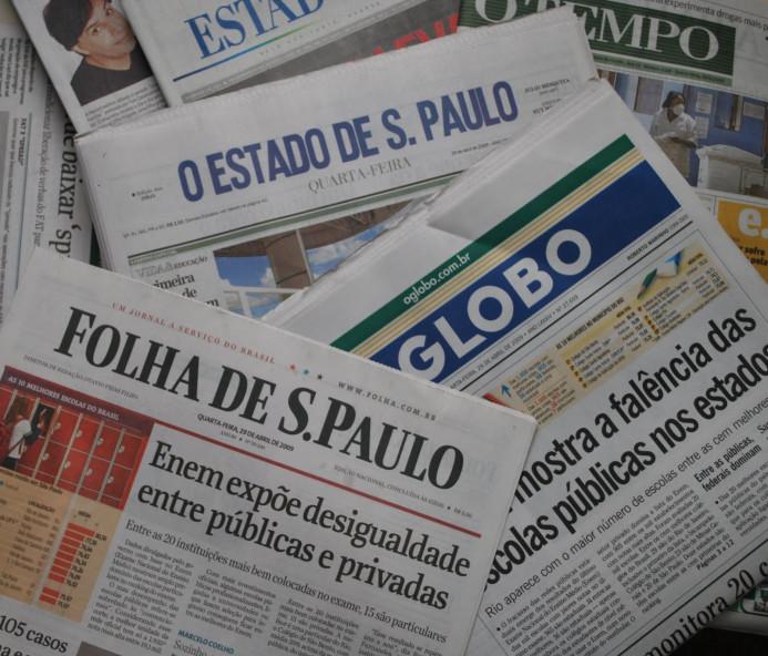 Manchetes dos principais jornais nesta terça