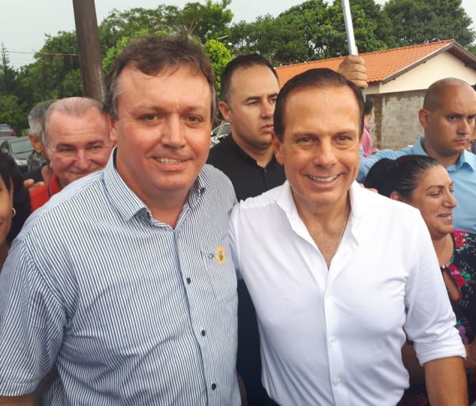 Duran é recebido pelo governador João Dória em Flora Rica e faz reivindicações para o Município