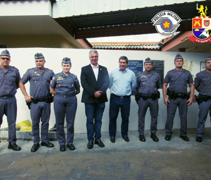 Senador Major Olimpio visita 42º Batalhão da PM em Venceslau